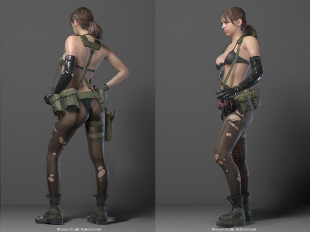 Quiet metal gear nude boobs