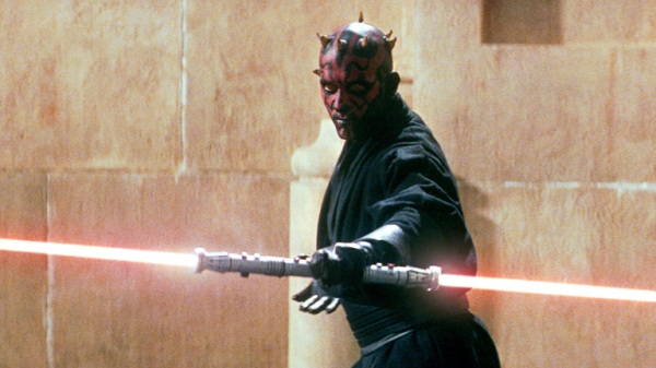 This one still image accounts for about 60% of Darth Maul's screen time