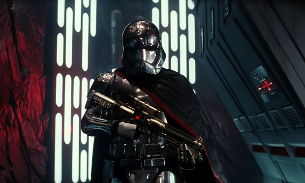Captain Phasma. This image may or may not account for 80% of her screen time. Guess you'll have to just see the movie and find out for yourself.