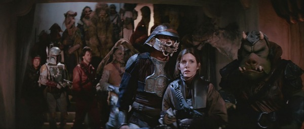 Luke is the master planner. He plants Lando in Jabba's palace, knows Leia will likely be taken captive, and even knew this image would account for 90% of Boba Fett's screen time