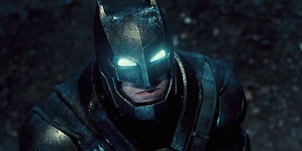The rare thing that makes sense in this movie. Batman makes an armor suit for protection in the fight with Superman.