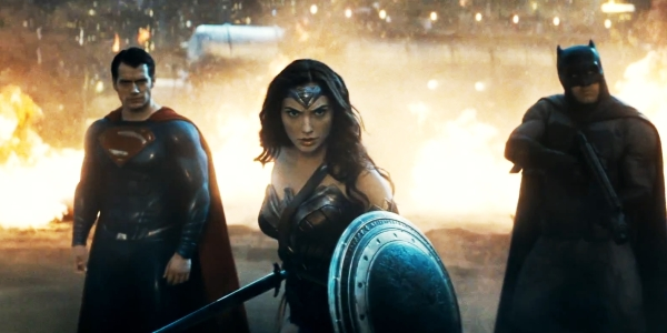 Sadly this image accounts for about 90% of the time we actually see Wonder Woman in action.
