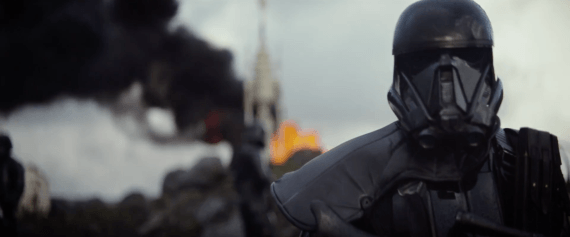 The first image revealed from the trailer. Between Phasma's chrome armor in TFA and this black armor, it appears there was this whole hidden world of fashion we never saw in the Original Trilogy...